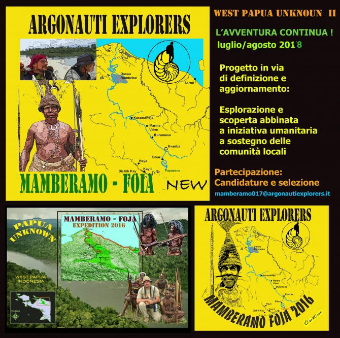 WEST PAPUA  UNKNOWN  Reloaded ! , MAMBERAMO-FOJA - 2018 EXPED nuova data -  ARGONAUTI  EXPLORERS